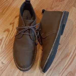 Gotcha Brown Leather Chukka  Boots 10.5
